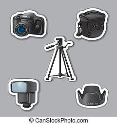 adesivi, apparecchiatura, fotografia