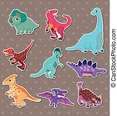 adesivi, dinosauro