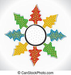 adesivo, árvore, natal, criativo