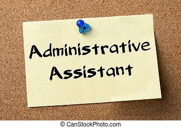 adesivo, assistente, -, etiqueta, fixado, tábua, administrativo, boletim
