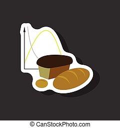 adesivo, carta, fondo, elegante, bread