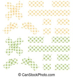 adesivo, checkered, fitas