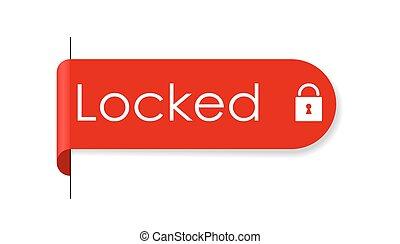 adesivo, chiuso chiave