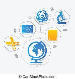 adesivo, infographic, educação
