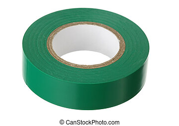 adesivo, isolante, verde, nastro