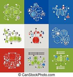 adesivo, medicina, infographic