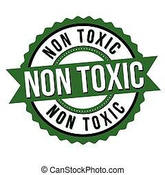 adesivo, non, etichetta, tossico, o