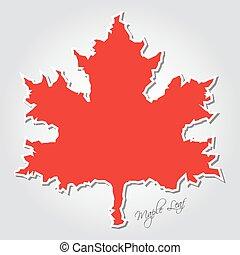 Stilizzato foglie contorno acero contorno foglie - Foglia canadese contorno foglia canadese ...