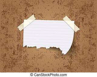 adesivo, strappato, nastri, pezzi, carta, sticked