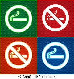 adesivos, jogo, -, nenhum fumar, área, etiquetas
