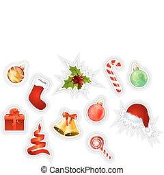 adesivos, natal, cobrança