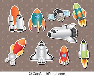 adesivos, nave espacial