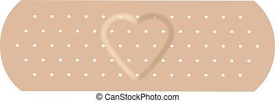 adhésif, love., bandage