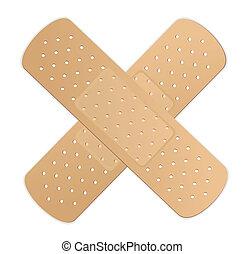 adhésif, vecteur, bandage