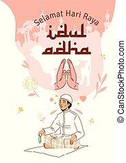 adha, musulmán, celebración, eid, al
