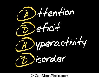 ADHD acronym concept - ADHD - Attention Deficit...