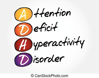ADHD - Attention Deficit Hyperactivity Disorder, acronym concept