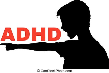 ADHD concept vector - ADHD, Attention Deficit Hyperactivity...