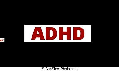 ADHD mental health symbol