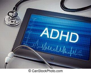 ADHD word display on tablet