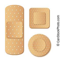 adhesive bandage isolated over white background. vector