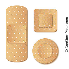 adhesive bandage isolated over white background. vector
