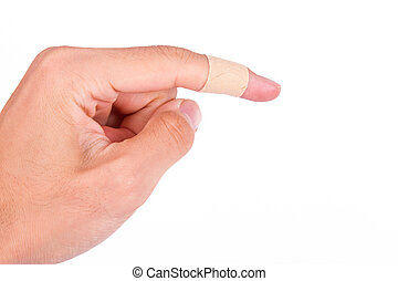 Adhesive Bandage on Index Finger
