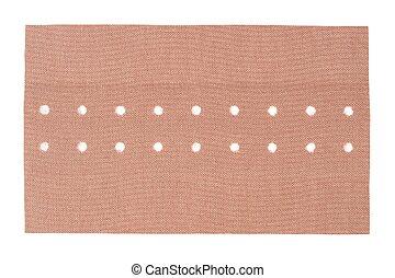 Adhesive bandage on white