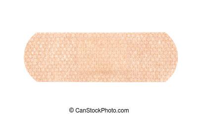 Adhesive bandage sticking plaster isolated over the white...