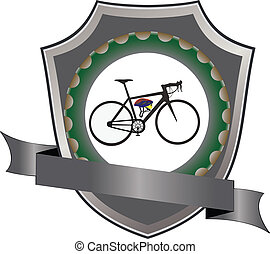 Adhesive cycling - Bicycle and cycling gear logo sticker
