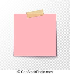Adhesive note sticker. Blank office paper for notice. Empty ...