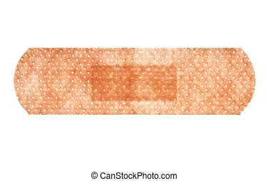 Adhesive plaster isolated on white background