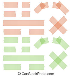 adhesive strip red and green