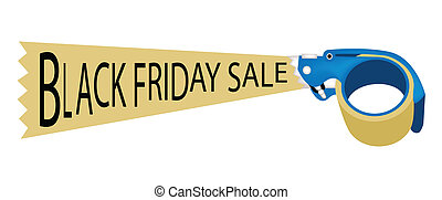 Adhesive Tape Dispenser With Word Black Friday Sale - A Blue...