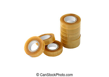 adhesive tape isolated on white - Adhesive tape rolls ...