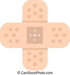 adhesivo, icon., vector, venda
