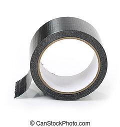 adhesivo, negro, cinta