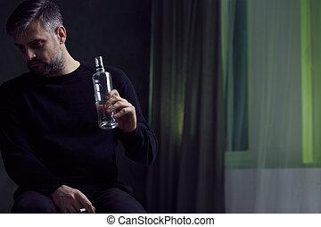 adicción,  Alcohol, hombre
