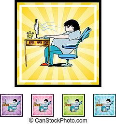 adicción, computadora