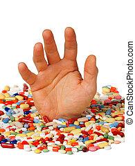 adicción, concepto, droga