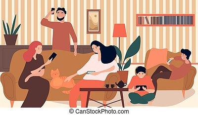 adicción, tecnología, familia