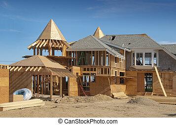 adición, construcción casera, debajo