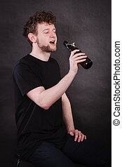 adicto,  Alcohol, joven, hombre