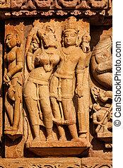 adinath, temple, khajuraho, jain, sculptures