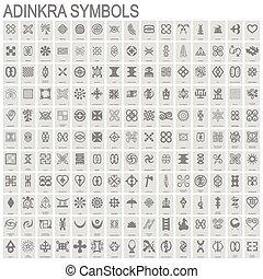 adinkra, アイコン, シンボル, モノクローム
