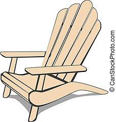 adirondack, 浜の 椅子