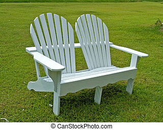 Adirondack chair - double white adirondack chair