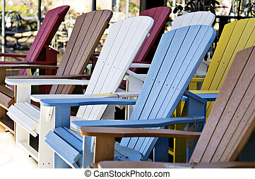Adirondack Chairs - Colorful display of adirondack chairs...