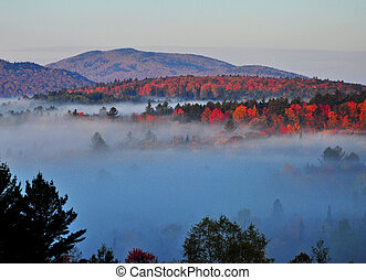Adirondack Mist - Early mist covers the valley on a fall day...
