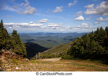 Adirondack mountains forests and lakes landscape